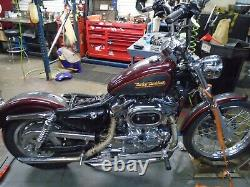01 Harley Davidson Sportster 1200 rear brake caliper & line