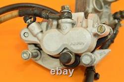 04-18 2004 CRF450 CRF 450 Front Brake Master Cylinder Caliper Line Assembly