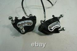 2000-2006 HARLEY SOFTAIL OEM Electra Front Dual Brake Calipers + Brake Line 5027