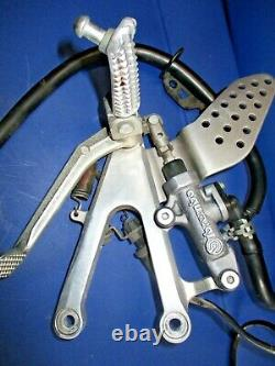 2002 2003 Yamaha R1 YZF 1000 Rear Brake Caliper steel braided line lever