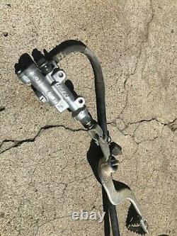 2003 03 Honda Cr125 Cr125r Cr 125 Rear Brake Assembly Caliper Cylinder Line