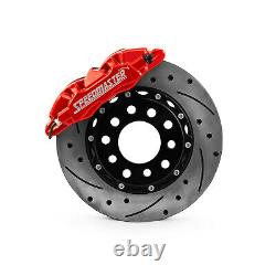 6 Piston Billet Caliper Front Pair Red Powdercoated
