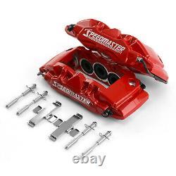 6 Piston Billet Caliper Rear Pair Red Powdercoated