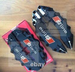 Black S line Brake Caliper Cover For Audi A1 A2 A3 2020 A4 Q2 Q3 Q5F11R9