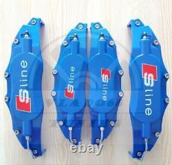 Blue Brake Caliper Covers for audi s line A1 sportback A2 A3 A4 Q1 Q3 2013 TT Q5