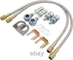 Brake Line Hose Kit Steel Braided METRIC 15 Steel Braided 4 Calipers Brakeline