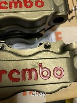 Brembo HPK 108mm Billet Radial Brake Calipers Inc. Pads GSXR R1 ZX10 CBR