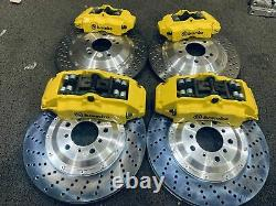 E46 M3 custom calipers kit front and rear with rotors hud bracket pads and line