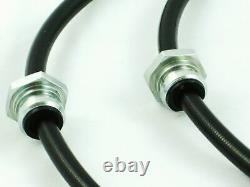 Front & Rear BLACK Conversion Brake Lines for 240SX S13 S14 with 300ZX Calipers