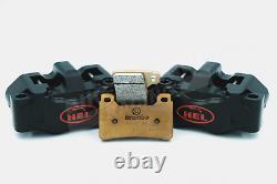 HEL Billet 108mm Black 4 Piston Front Brake Calipers & Brembo Z04 Brake Pads