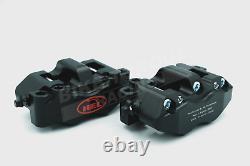 HEL Billet 108mm Radial 4 Piston Black Front Brake Calipers