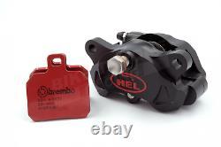 HEL Billet 84mm Radial 2 Piston Black Rear Brake Caliper & Brembo SP Pads