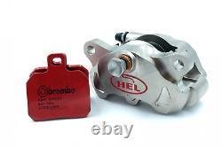 HEL Billet 84mm Radial 2 Piston Nickel Rear Brake Caliper & Brembo SP Pads