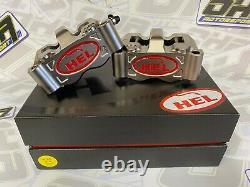 HEL Performance Billet Radial Motorcycle Race Front Brake Calipers 100mm & PADS