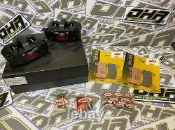 HEL Performance Billet Radial Motorcycle Race Front Brake Calipers 108mm & PADS