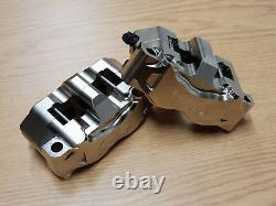 HEL Performance Brake Calipers 4 Piston Nickel Plated Billet Road and Race