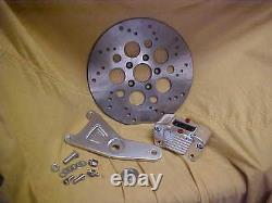 Harley, FL, FX, 81-84, New Billet performance brake caliper kit with drilled rotor