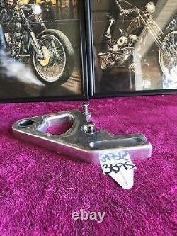 Harley Softail Rigid Rear Brake Caliper Bracket Polished Aluminim Billet Pm