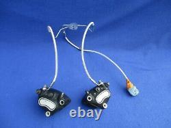 Harley Twin Cam Touring Electra Glide Flhr Dual Disc Front Brake Calipers Line