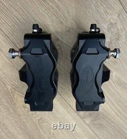 Hel Billet Black Brake Calipers 108mm Suzuki Yamaha Honda