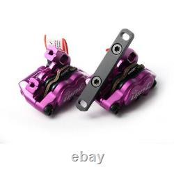 Juin Tech GT-F Line Pull Hydraulic Disc Brake caliper Road CX Flat Mount Purple