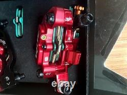 Juin Tech GT-P Line Pull Hydraulic Disc Brake caliper Road CX Gravel 160mm Red