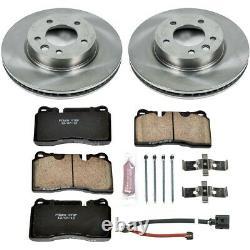KOE4656 Powerstop 2-Wheel Set Brake Disc and Pad Kits Front New for VW Touareg