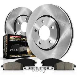 KOE6743 Powerstop Brake Disc and Pad Kits 2-Wheel Set Front New for 320 328 330