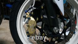 Kawasaki Ninja 300 EX300 400 Brembo Front Brake Caliper CNC Billet Adapter Plate