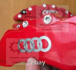 Metal Red S line Brake Caliper Cover Engineering Plastic For Audi A1 A3 F11R9