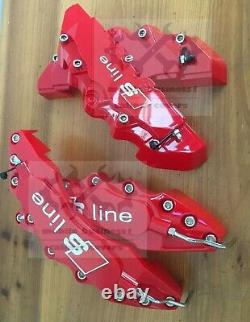S line Red Brake Caliper Cover Engineering Plastic For Audi A3Q3Q2A4 F11R9