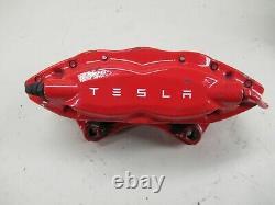 Tesla Model S Caliper Left Rear Red witho Brake Line 1042641-01-A