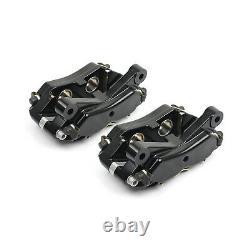 Universal Rear 4 Piston Billet Aluminum Caliper Black Anodized 1/8 Npt