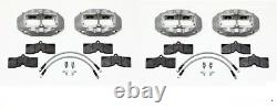 WILWOOD D8-4 BRAKE CALIPER, PAD, & LINE KIT, FRONT & REAR, 1965-1982 C2, C3 Vette