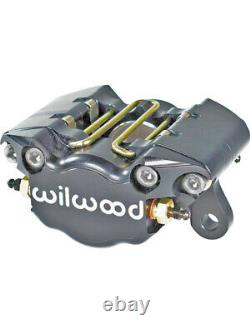 Wilwood Brake Caliper Billet Dynapro Aluminum Black Dual Piston E. (120-9689-LP)