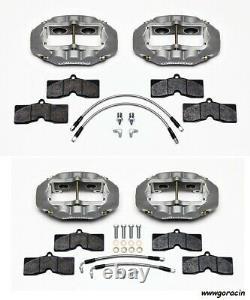 Wilwood Brake Caliper, Pad, & Line Kit, Front & Rear, 1965-1982 Corvette C2, C3