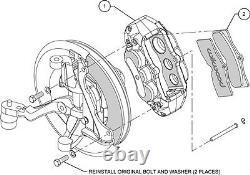 Wilwood Caliper, Pad, & Line Kit, D8-6,6 Piston, Front, 65-82 Corvette C-2, C-3, Black