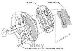 Wilwood Caliper, Pad, & Line Kit, Fr, 65-82 Corvette C2 C3