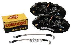 Wilwood Caliper, Pad, & Line Kit, Rear, 65-82 Corvette C2, C3, Black, Chevy, New