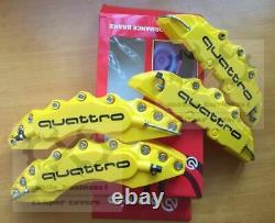 Yellow S line Brake Caliper Cover Engineering Plastic For Audi A1 A3 Q3 F11R9