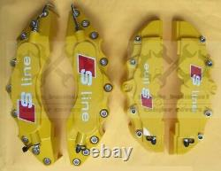 Yellow S line Brake Caliper Cover Engineering Plastic For Audi Q3A3Q2A4 F11R9