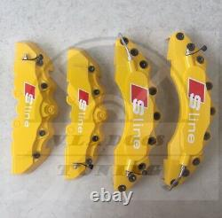 Yellow white s line Brake Caliper Covers for audi s line A1 A2 A3 A4 Q3 Q5 TT